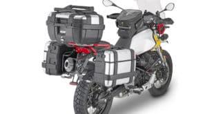 """Per viaggiare comodi e attrezzati con """"l'aquila da fuoristrada"""" Givi ha realizzato una serie di Accessori per Moto Guzzi V85 TT"""