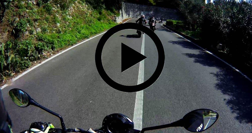 riprese dalla moto dotata di action cam