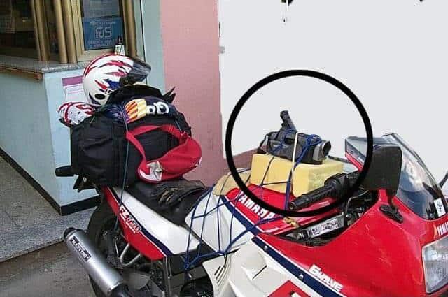 action cam sulla moto