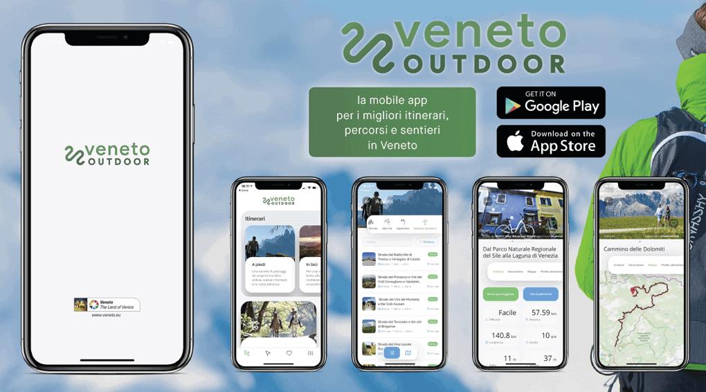 Veneto Outdoor è scaricabile per dispositivi Android o IOS