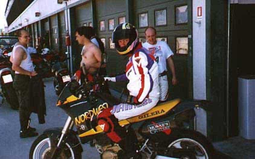 Gilera Nordwes in pista a Misano