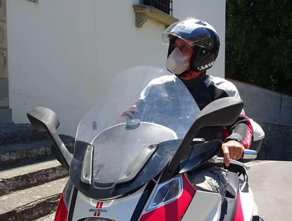 Mascherina per motociclisti